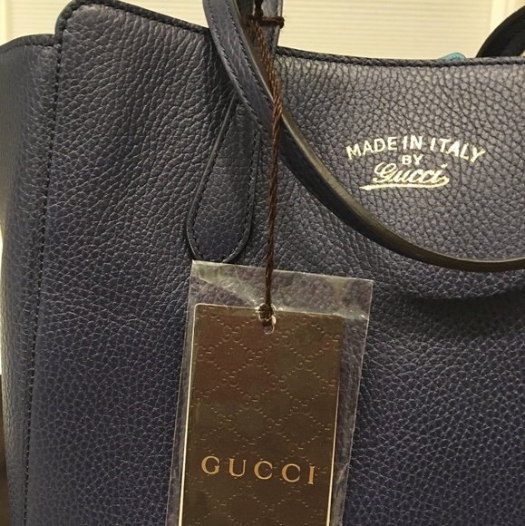 ee385363845540 Gucci Bags | Authentic Blue Swing Leather Tote | Poshmark